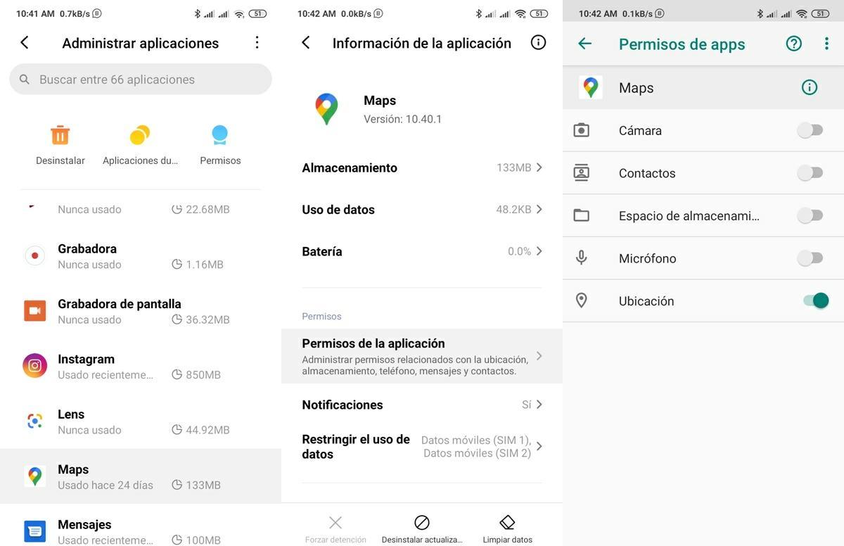 conceder permiso de ubicacion a aplicaciones en android