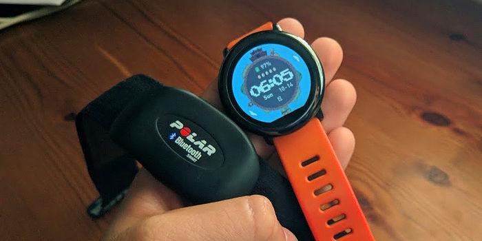 conectar banda ritmo cardiaco amazfit pace stratos
