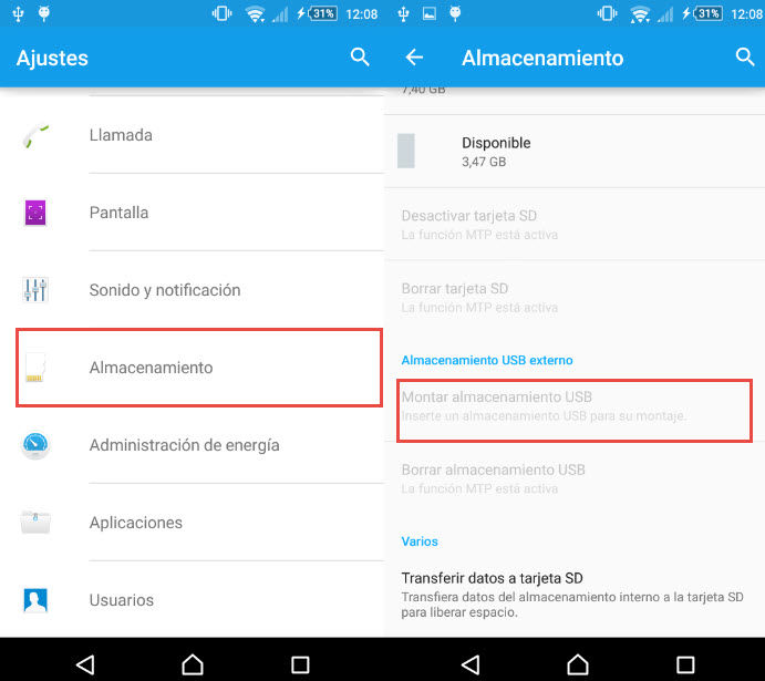conectar usb a android1
