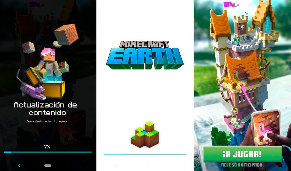 configuración interna Minecrafr Earth