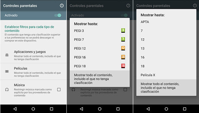 configurar control parental google play1