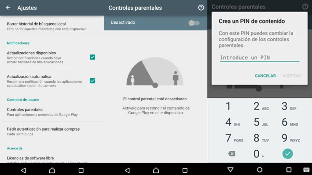 configurar control parental google play2