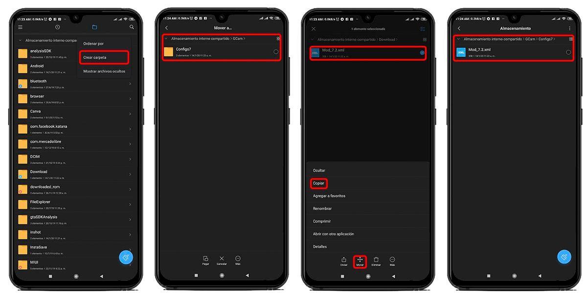 configurar correctamente gcam android