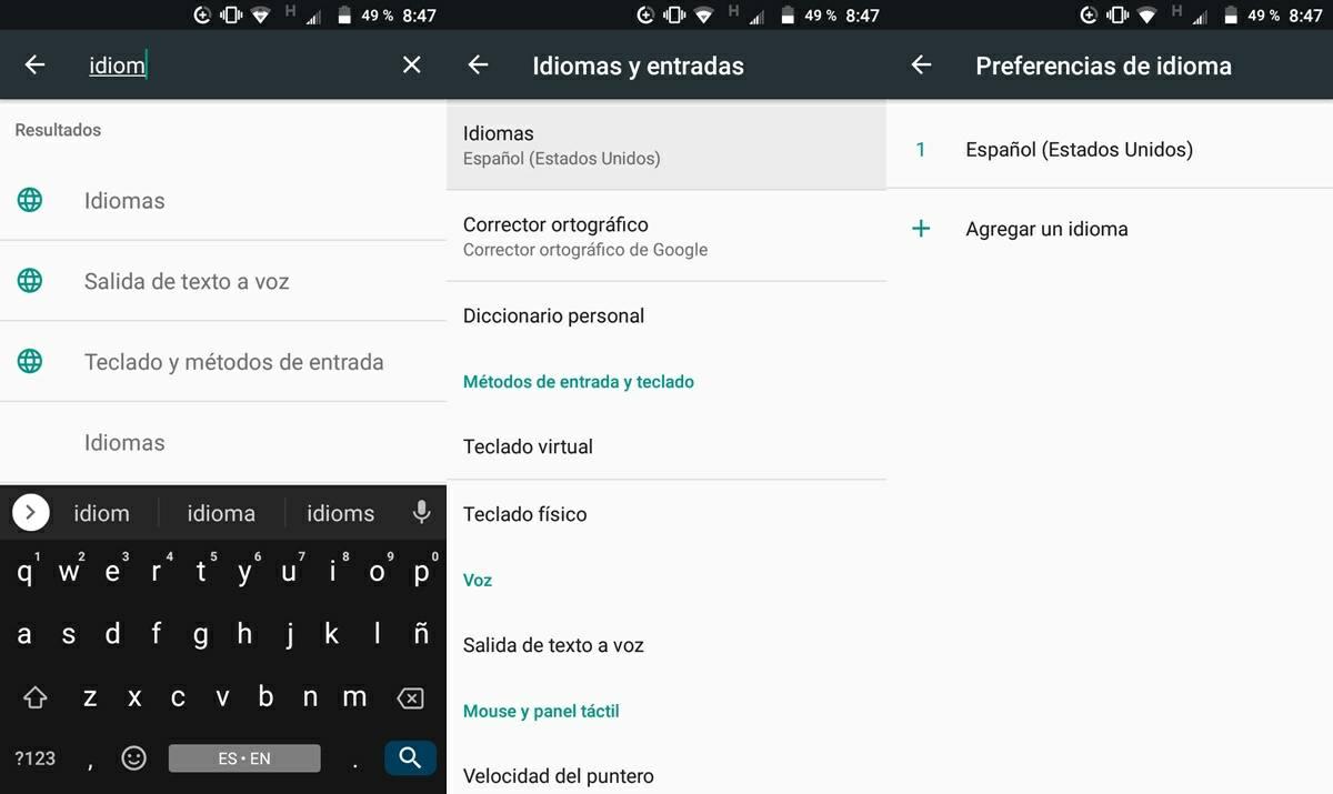 configurar idioma de android en espanol