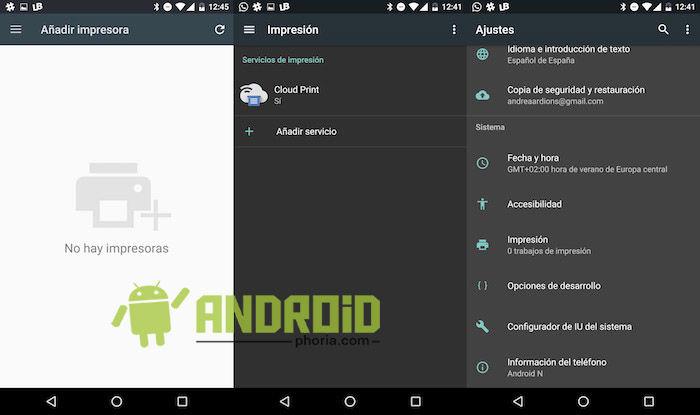configurar impresora en android
