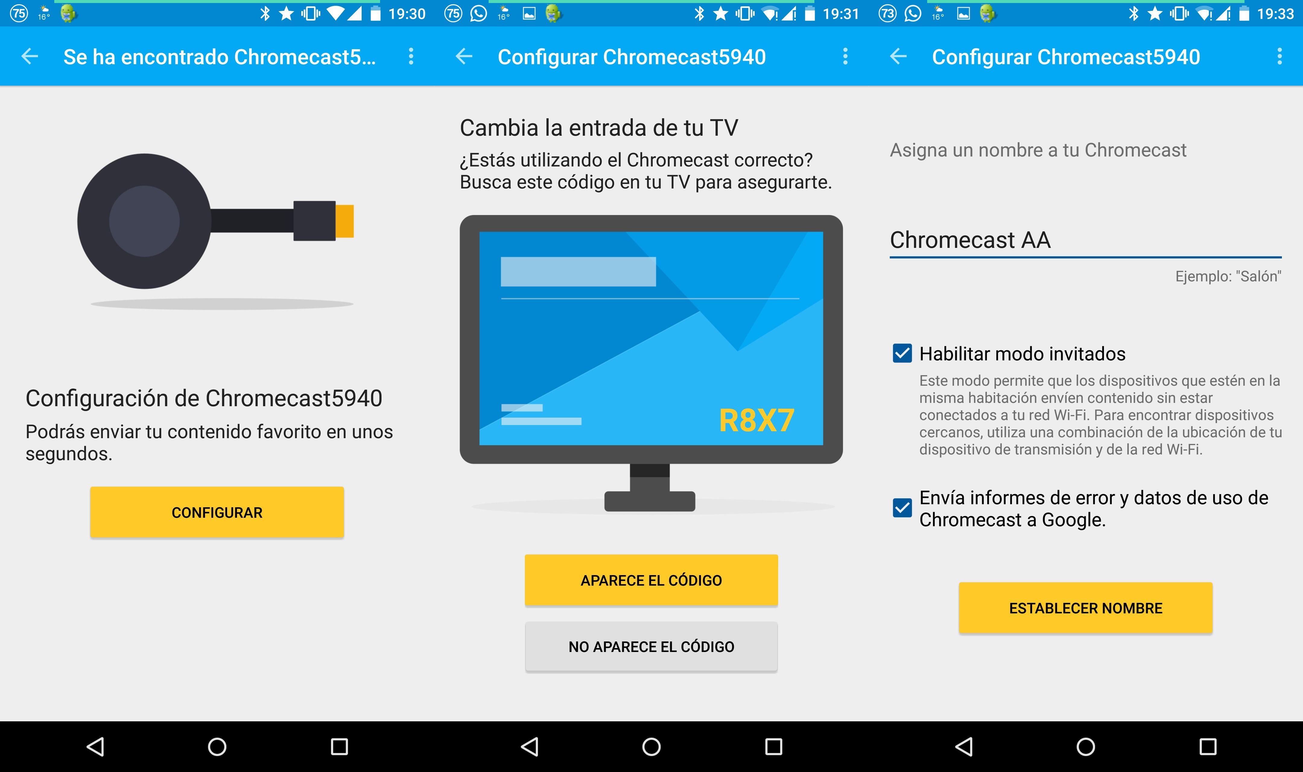 configurar nuevo chromecast de google