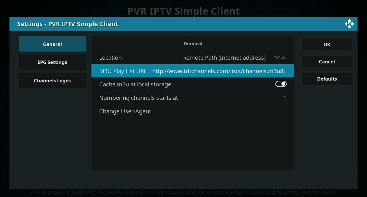 configurar pvr iptv client simple en kodi