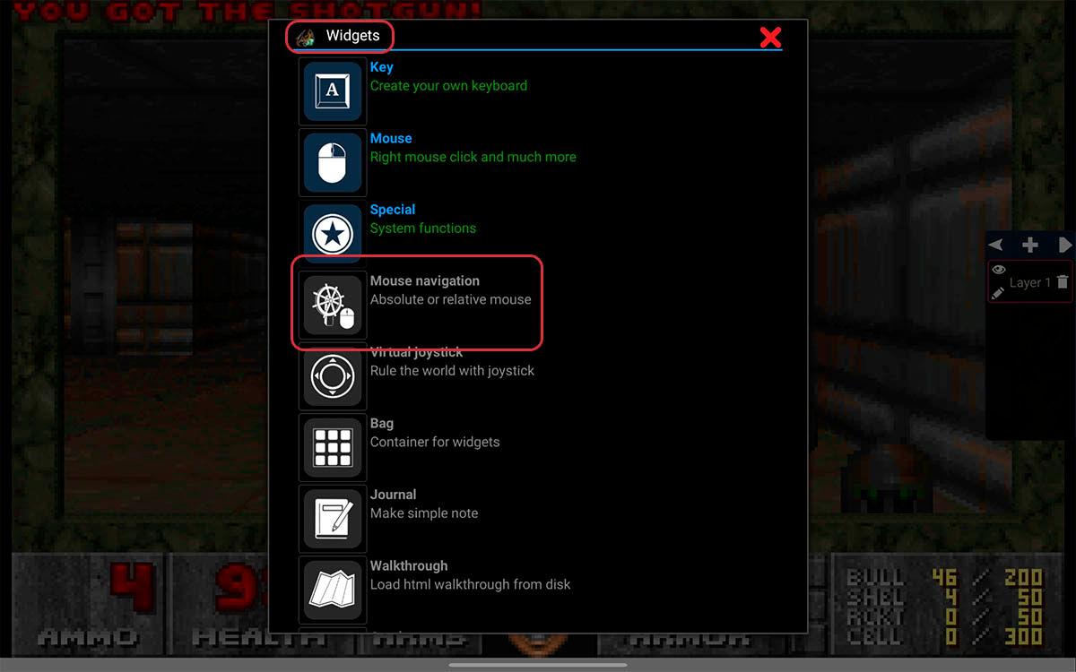 configurar ratón o mousepad de tu chromebook para jugar MS-DOS Magic DosBox