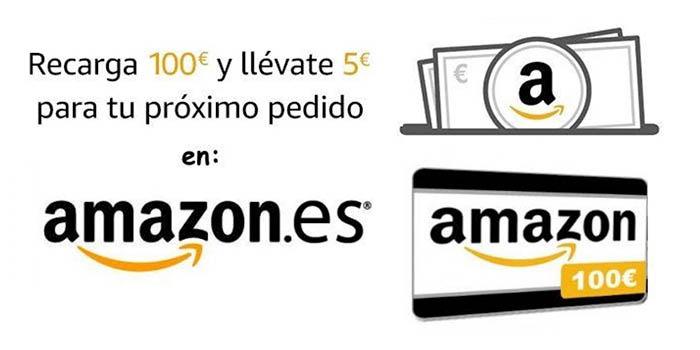 Cómo conseguir 5 euros en Amazon recargas