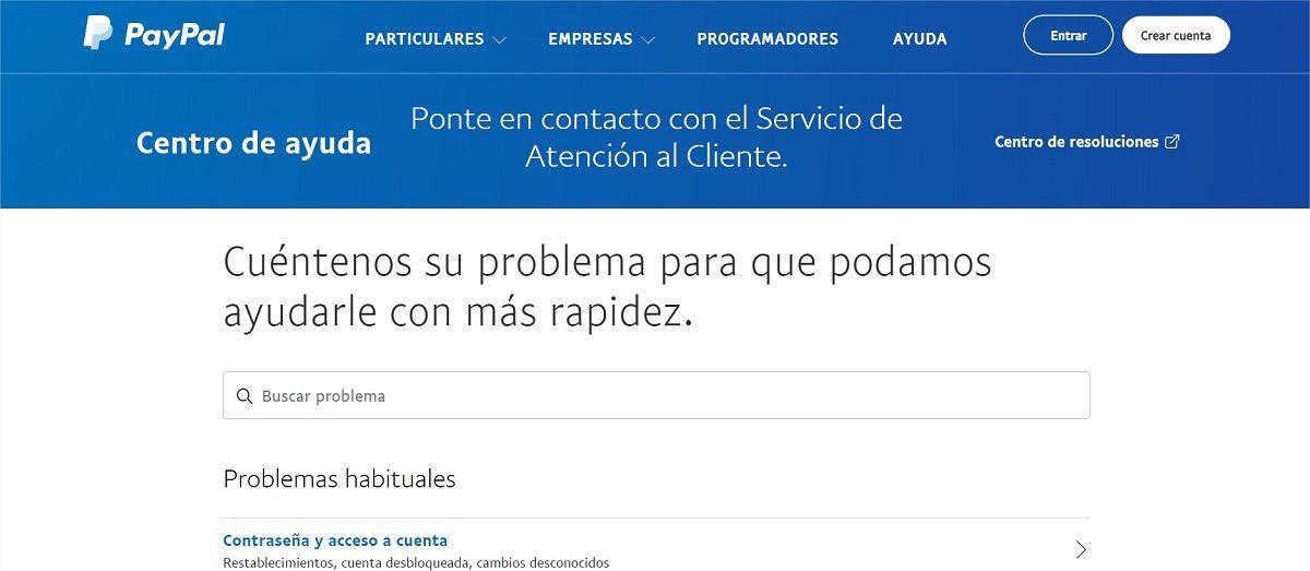 contactar paypal