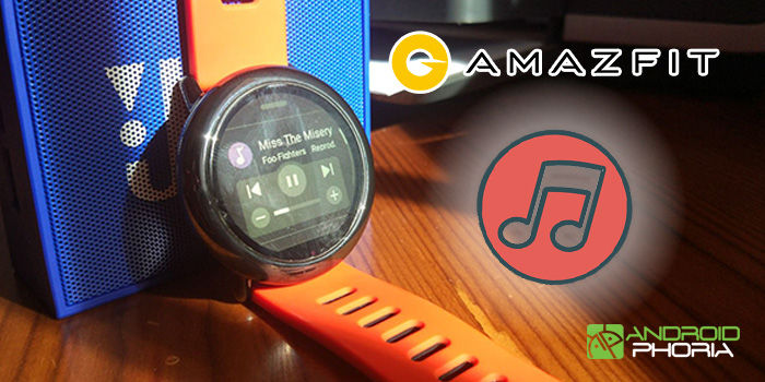controlar musica amazfit pace spotify
