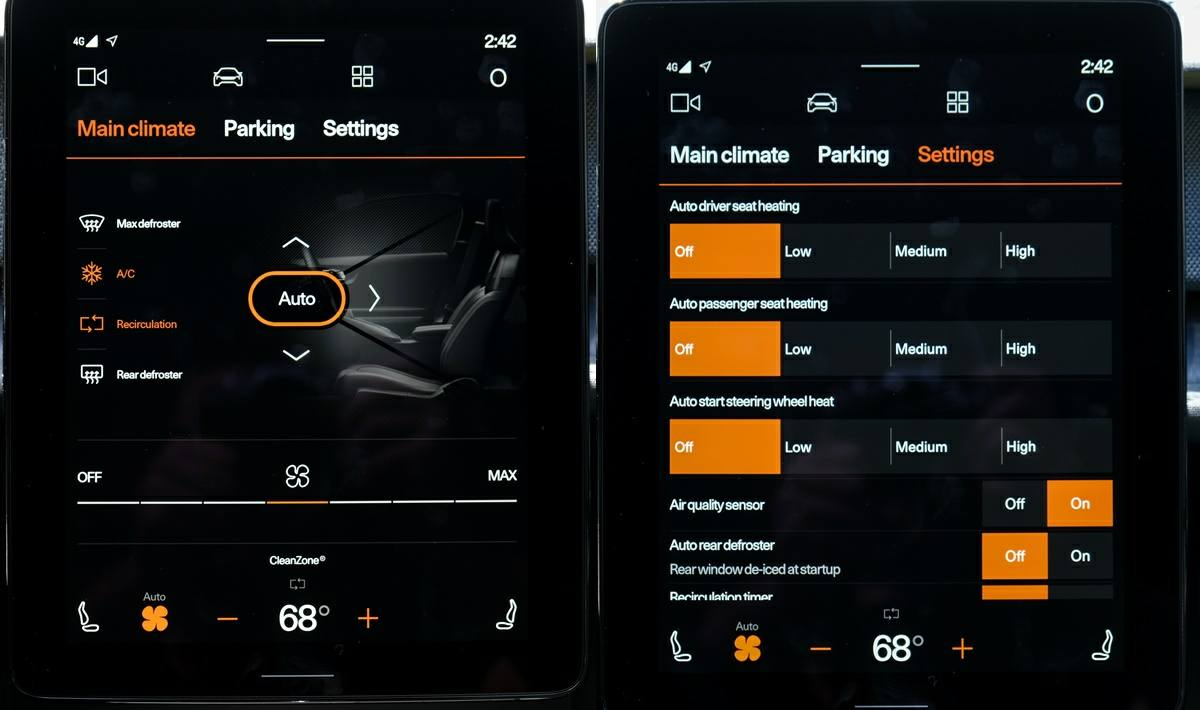 controles de coche android automotive