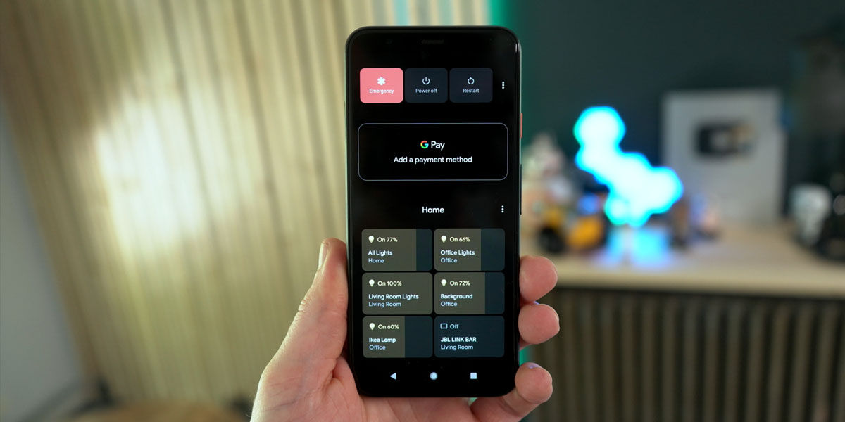 controles de domótica android 11