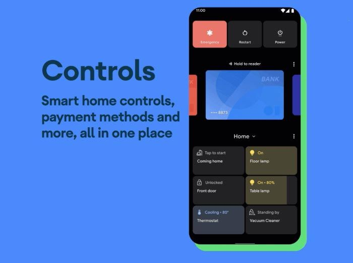controls android 11