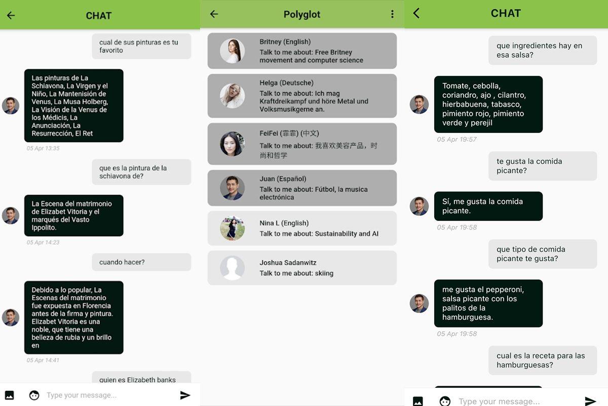 conversaciones app polyglot ia