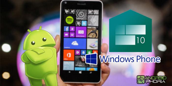 convertir android windows phone launcher