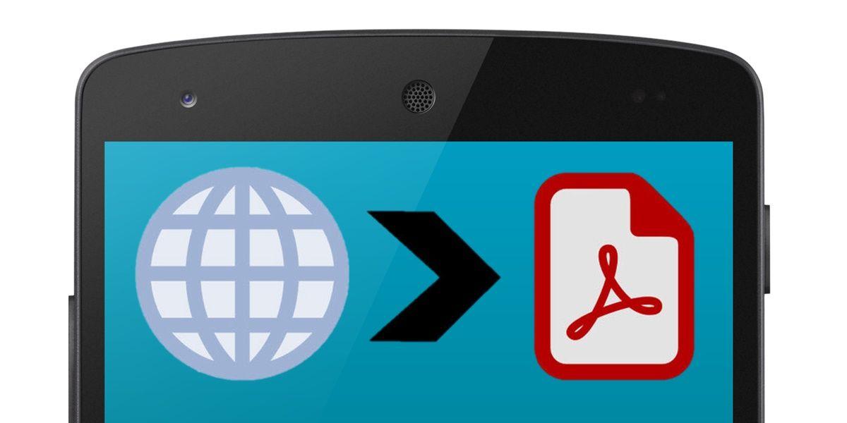 convertir pagina web a pdf android