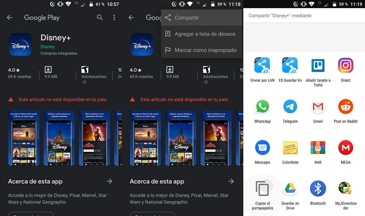 copiar ID de una app en Google Play Store