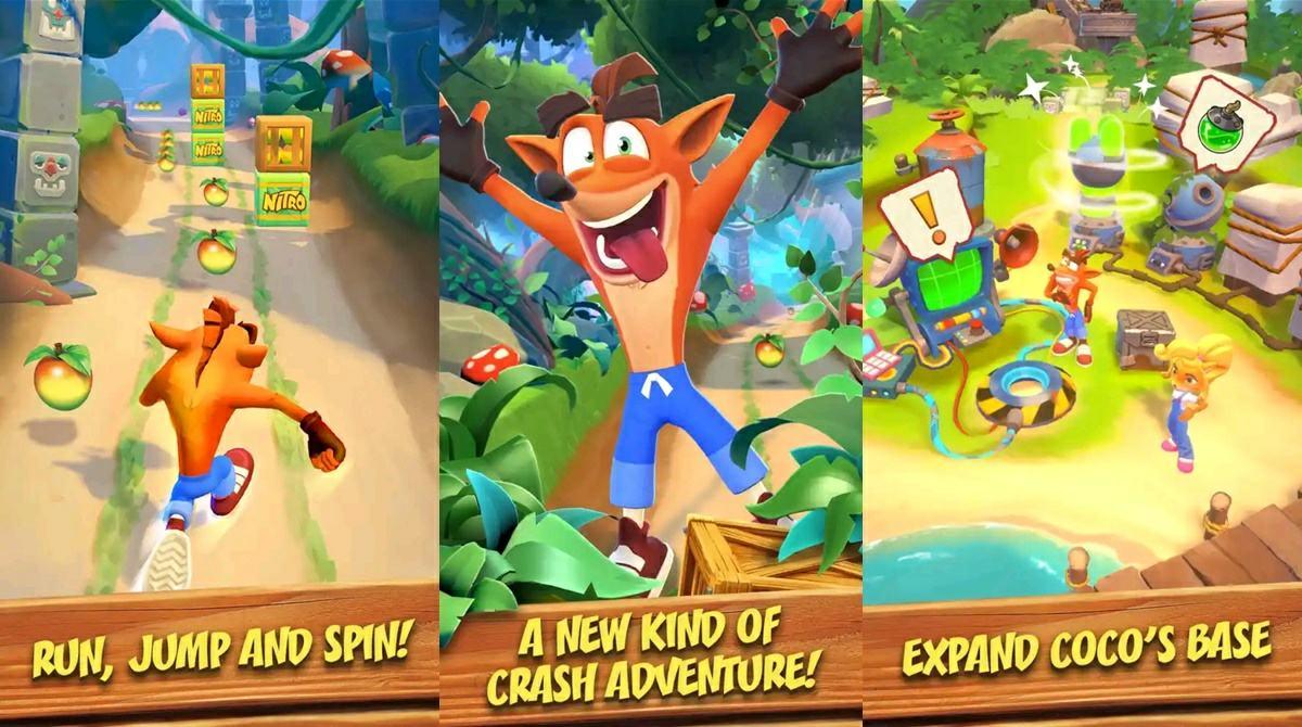 crash bandicoot mobile capturas
