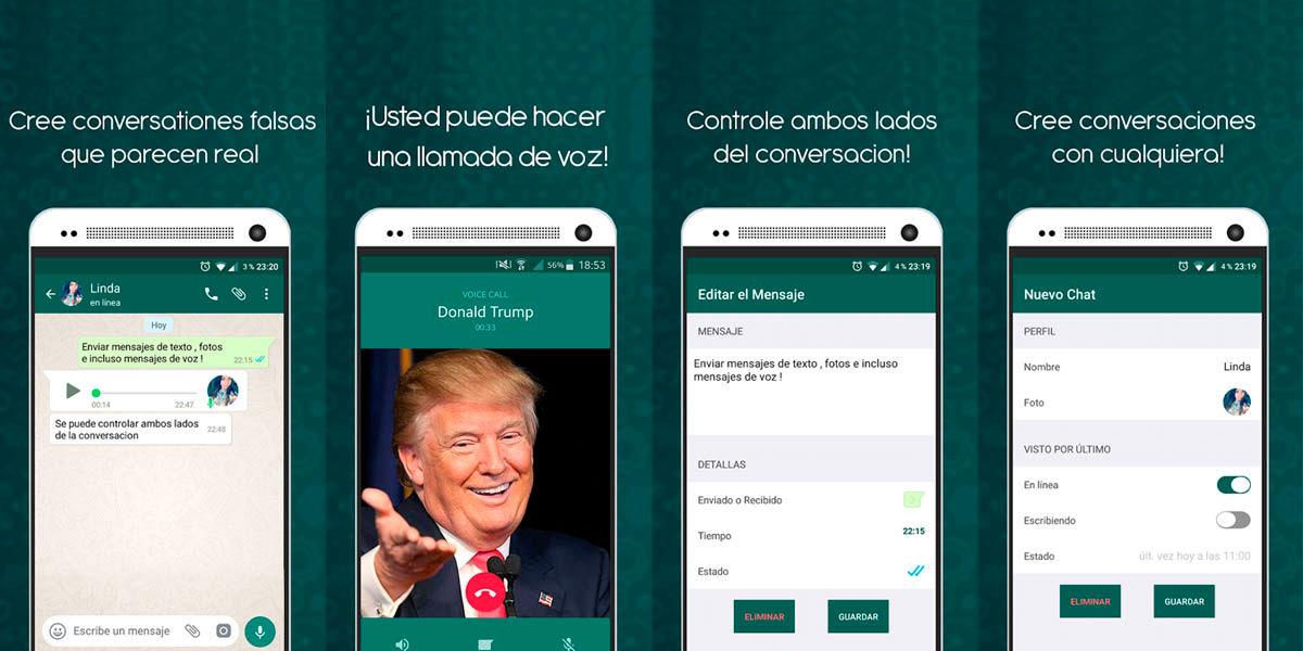 crear conversaciones falsas WhatsApp