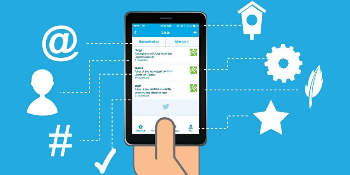 crear listas personalizadas de twitter en android