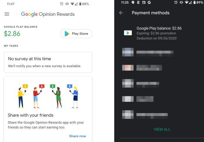 creditos google opinion rewards