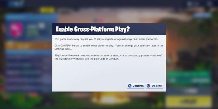 cross play fortnite temporada 8