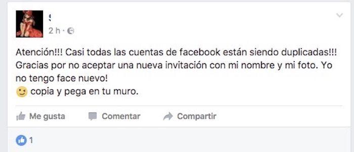 cuentas facebook duplicadas
