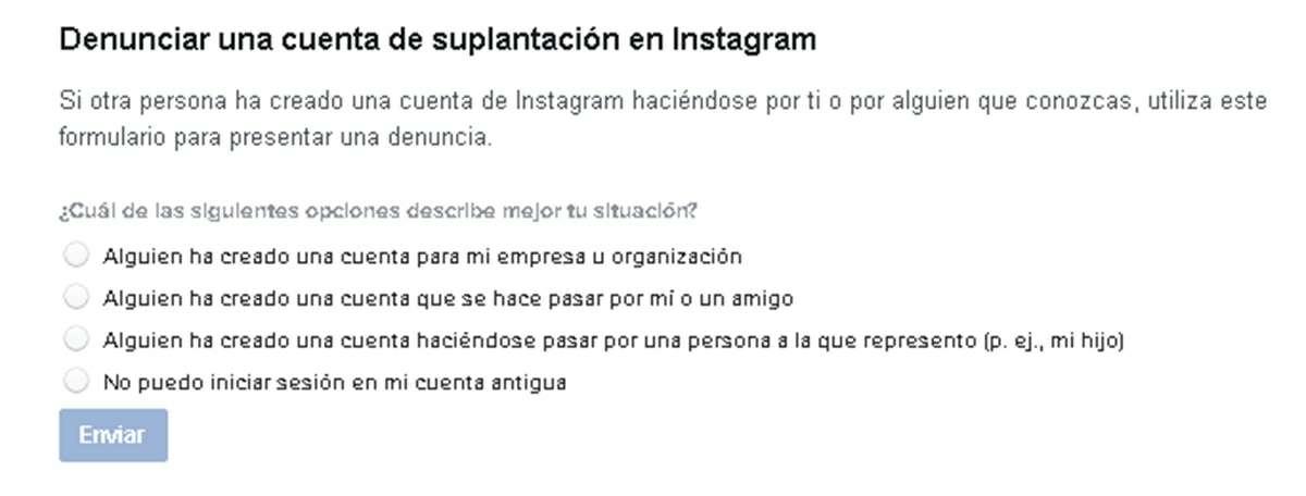 denunciar suplantacion de identidad instagram