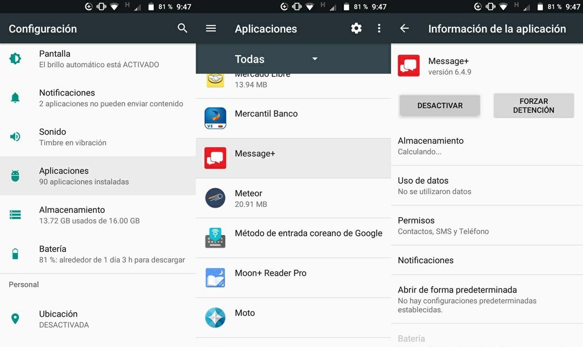 desactivar aplicaciones de fabricante bloatware android