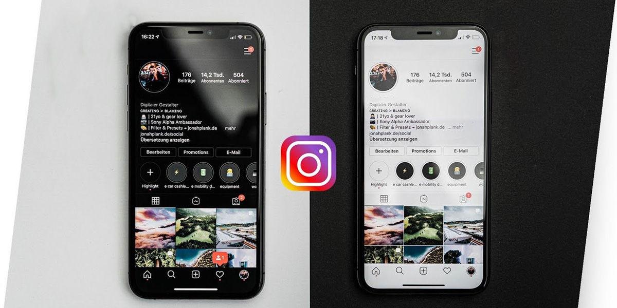 desactivar modo oscuro en instagram