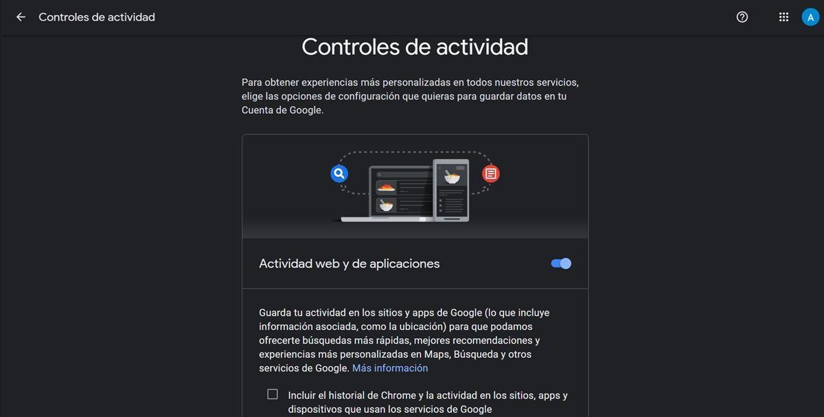 desactivar rastreo de google en aplicaciones y web