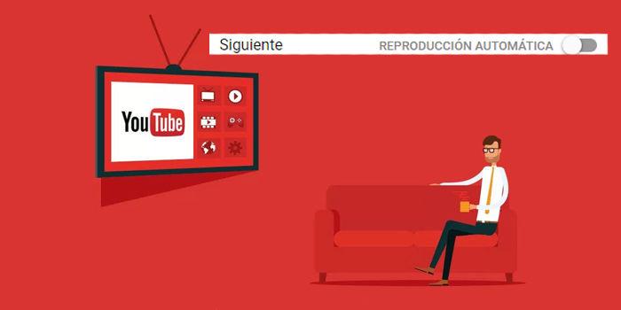 desactivar reproduccion automatica youtube