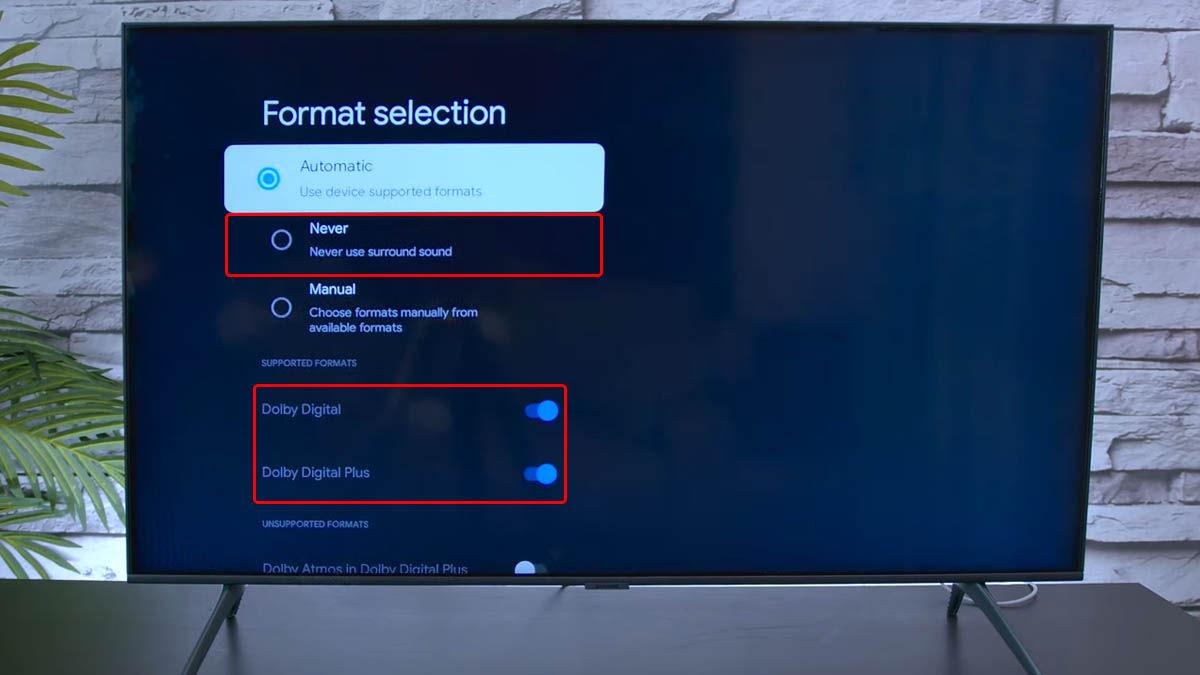 desactivar sonido envolvente chromecast google tv