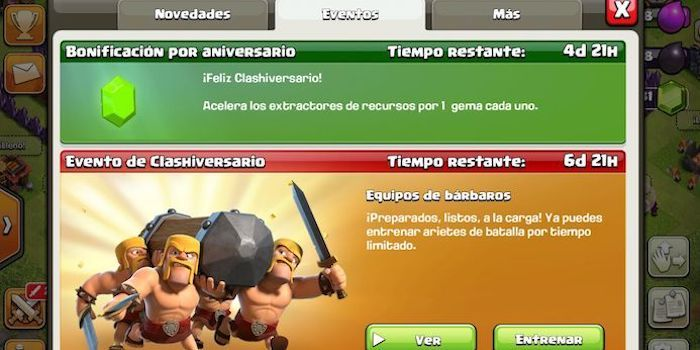 desafio especial clash of clans
