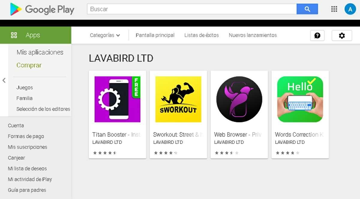 desarrollador lavabird ltd apps