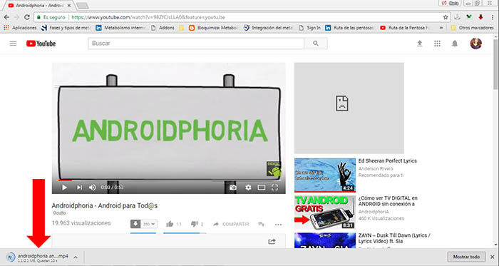 descarga audio androidphoria