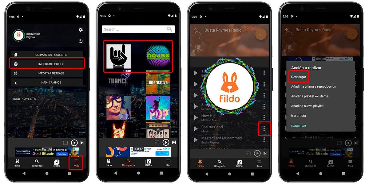 descarga spotify a mp3 fildo android