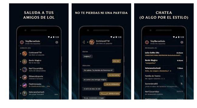 descargar amigos lol para android chat