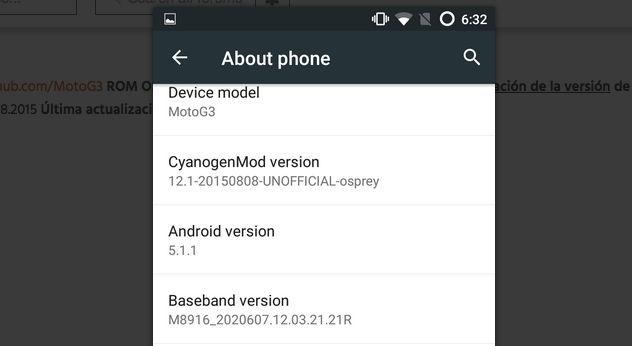 descargar cyanogenmod 12.1 para moto g 2015