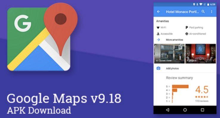 descargar google maps 9.18 apk android