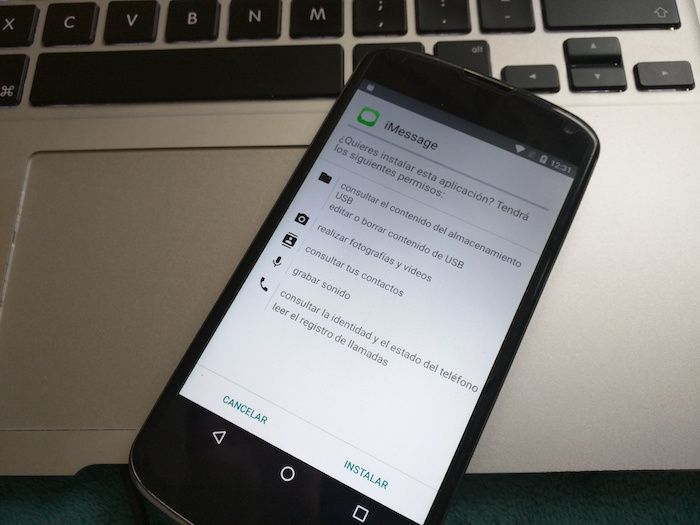 descargar imessage para android