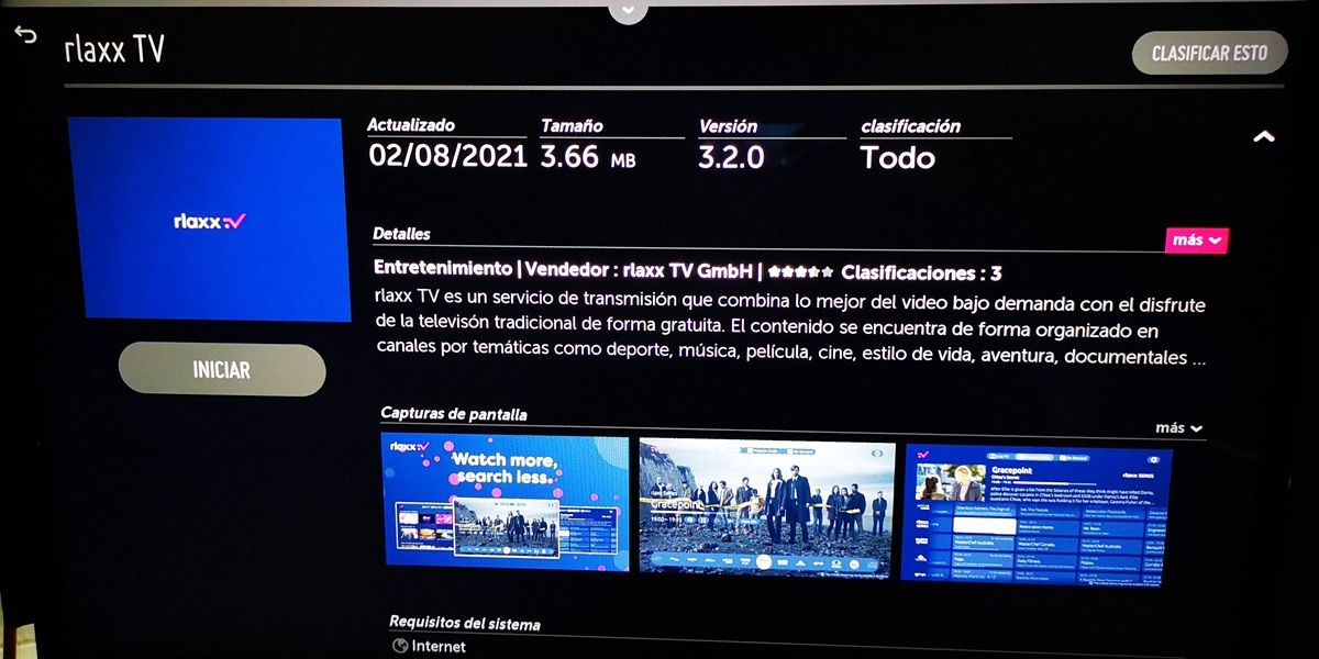 descargar rlaxx tv en smart tv