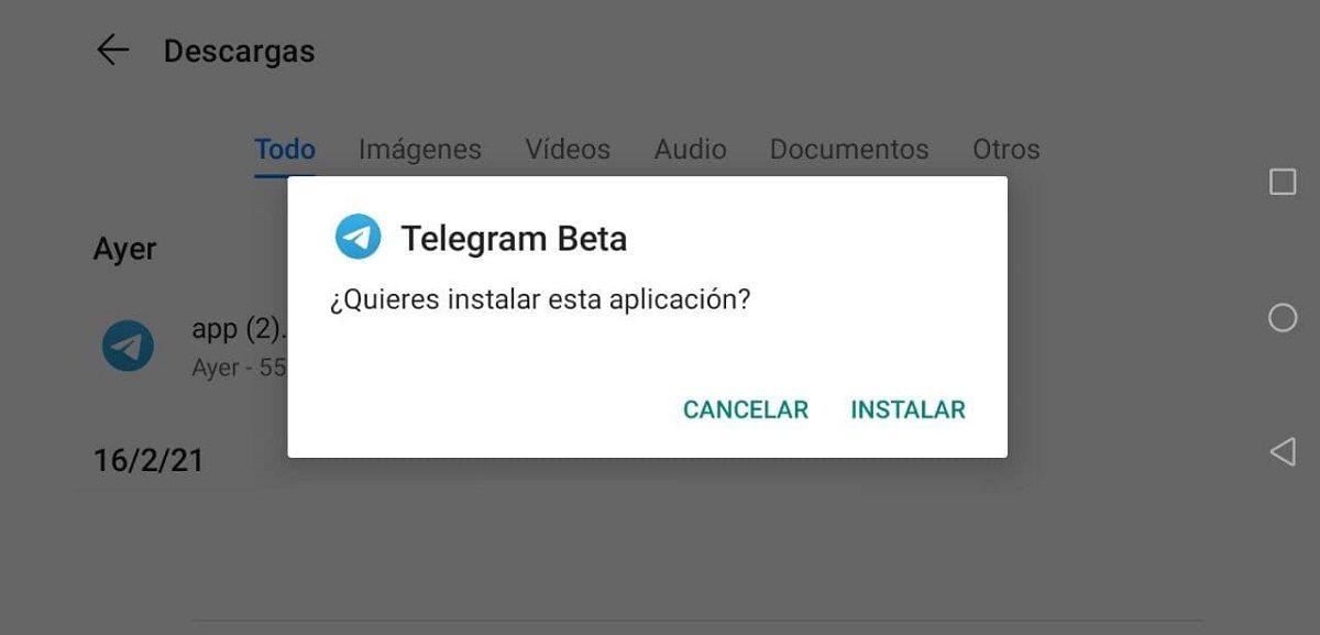 descargar telegram beta