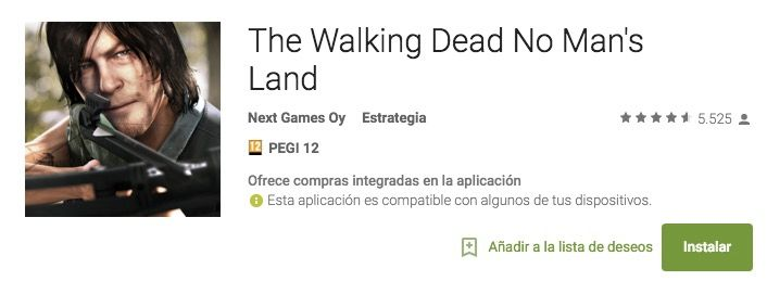 descargar the walking dead no mans land android