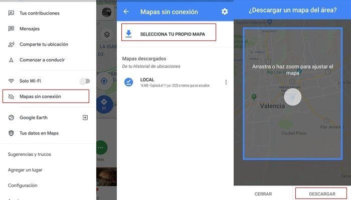 descargar ubicacion google maps