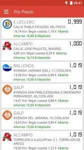Captura gasolineras España