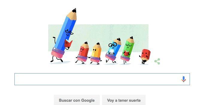 Google celebra el Día del maestro con un Doogle