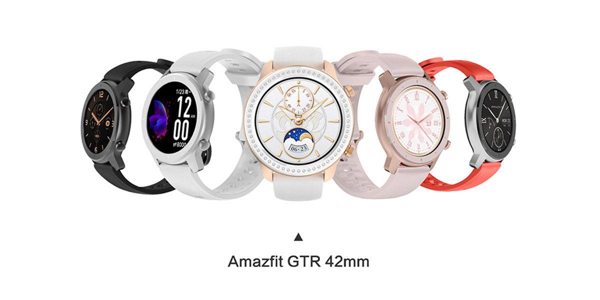 diseño amazfit gtr 42 mm
