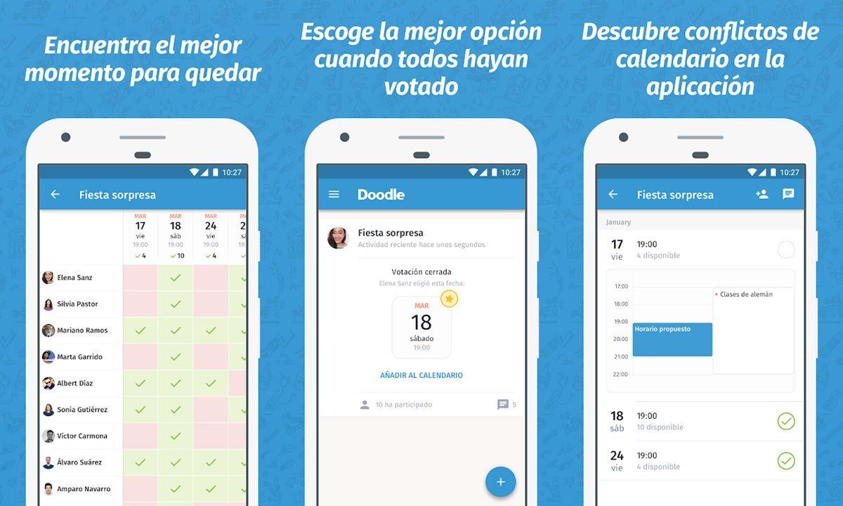 doodle app para hacer encuestas